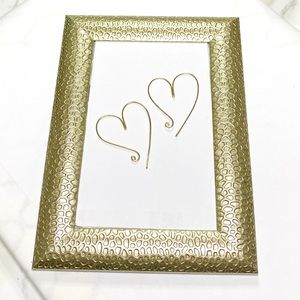 ShanRiLa Heart Hoop Earrings (Gold Filled)